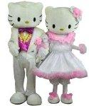 Chodzące maskotki - Hello Kitty Noworoczna Para
