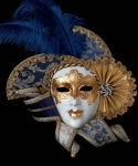 Maska wenecka - Golden Queen