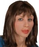 Maska lateksowa z peruką - Diva Brunetka