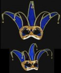 Maska wenecka - Colombina Jolly Velluto Black/Blue