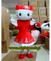 Chodząca maskotka - Bożonarodzeniowa Hello Kitty