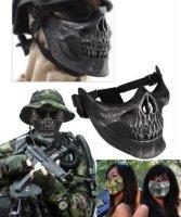 Maska dla motocyklisty - Czaszka