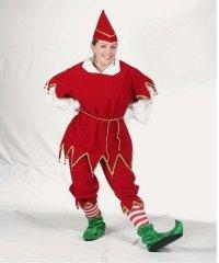 Profesjonalny strój pomocnika Świętego Mikołaja - Elf Deluxe 2