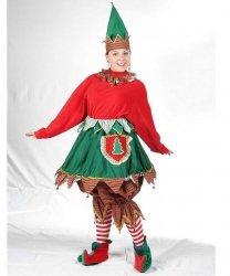 Profesjonalny strój pomocnczki Świętego Mikołaja - Pani Elf Deluxe