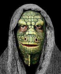Maska klejona na twarzy - Jaszczurka Deluxe
