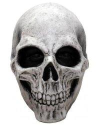 Maska lateksowa - Czaszka Biała