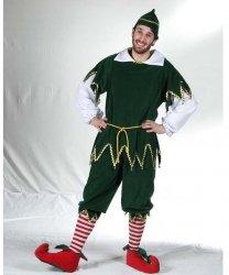 Profesjonalny strój pomocnika Świętego Mikołaja - Elf Deluxe