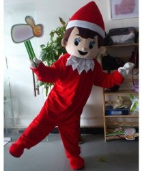 Chodząca maskotka - Bożonarodzeniowy Pajacyk
