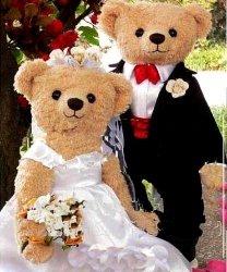 Strój reklamowy - Para Miśków na ślubnym kobiercu 5