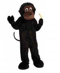 Strój chodzącej maskotki - Małpka Bananka