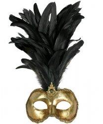 Maska wenecka - Colombina Oro Piume