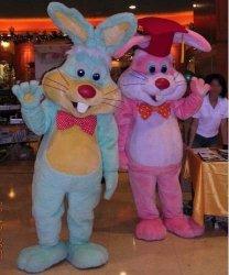 Chodzące maskotki - Dwa Zające Wielkanocne Candy