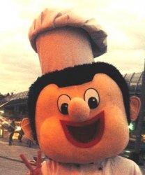 Głowa chodzącej maskotki - Kucharz