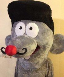 Głowa chodzącej maskotki - Pan Szczurek 2