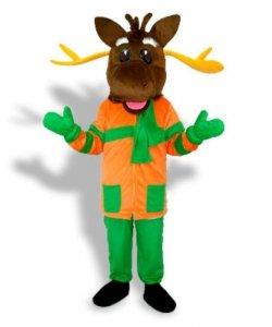 Strój chodzącej maskotki - Renifer X-mas Classic Orange