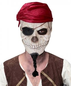 Maska lateksowa - Czaszka Pirata