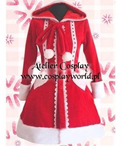 Kostium świąteczny - Wiktoriański płaszczyk z kapturem