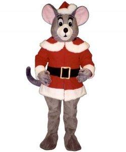 Chodząca maskotka - Mysz Św. Mikołaj