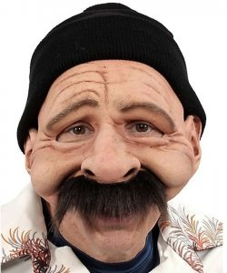 Maska lateksowa - Staruszek Mario