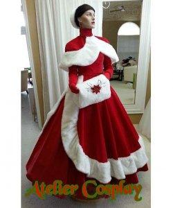 Sukienka z peleryną - Śnieżynka Premium II