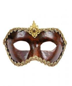 Maska wenecka - Colombina Cuoio