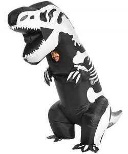 Nadmuchiwany kostium - Szkielet Dinozaura
