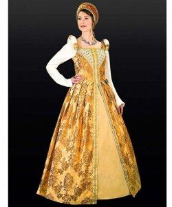Kostium teatralny - Tudors Złota Suknia Królowej