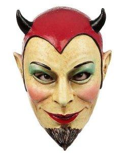 Maska lateksowa - Diabeł Szpicbródka