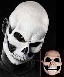 Maska lateksowa klejona na twarzy - Śmierć Deluxe