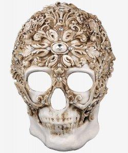 Maska wenecka - White Diamond Skull