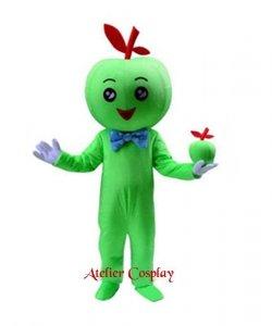 Strój chodzącej maskotki - Dziewczynka Zielone Jabłuszko