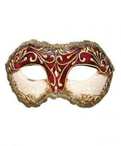 Maska wenecka - Colombina Strucco