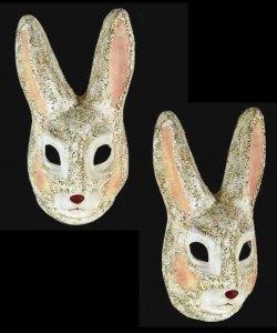 Maska wenecka - Coniglio Bianco