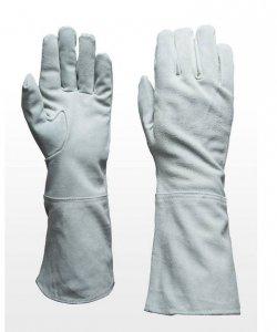 Rękawice - Zamsz Biel