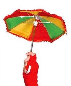 Akcesoria klauna - Zabawny parasol