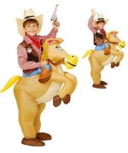 Pneumatyczny kostium dla dziecka Carry Me - Dziki koń