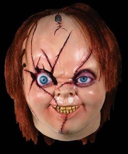 Maska lateksowa - Krwawy Chucky