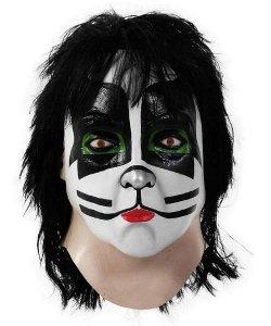 Maska lateksowa z peruką - Kiss Catman