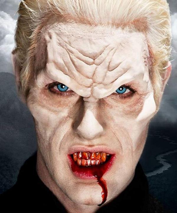 Aplikacje lateksowe czoło wampira i powiększone policzki