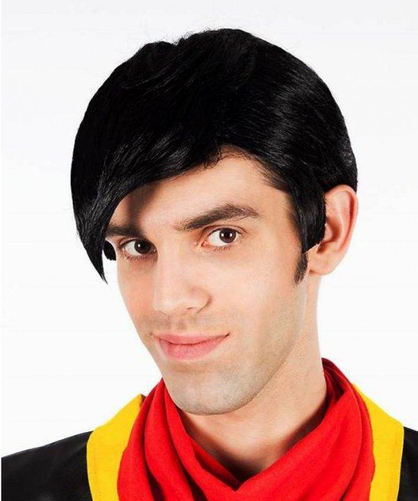 Peruka Lucky Luck czarne włosy