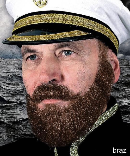 Naturalne wąsy & broda - Kapitan