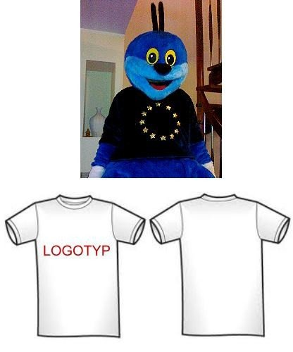 Koszulka z logotypem dla chodzącej maskotki (przód lub tył)