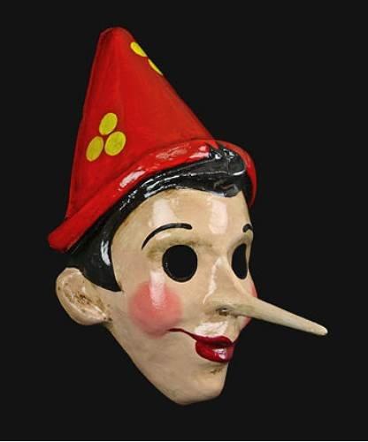 Maska wenecka - Pinocchio Benigni Red