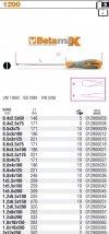 Beta 1290/4X100 Wkrętak płaski BETAMAX 4x100mm