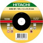 HITACHI Tarcza do cięcia metalu INOX 125x1,5x22,2mm płaska - PREMIUM