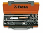 Beta 910A/C16Q Zestaw nasadek 3/8 z wyposażeniem 16szt