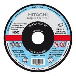 HITACHI Tarcza do cięcia metalu INOX A60T 125x1,0x22,2mm płaska - STANDARD
