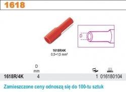Beta 1618R/4K Końcówki kablowe gniazdowe cylindryczne 100szt
