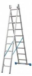 Stabilo drabina rozstawno-przystawna ze szczeblami 2x9