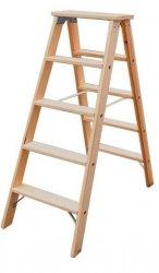 Stabilo drabina dwustronna drewniana ze stopniami 2x5